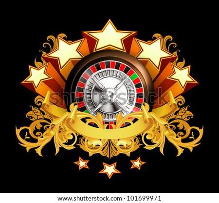 Roulette insignia, bitmap copy - stock photo