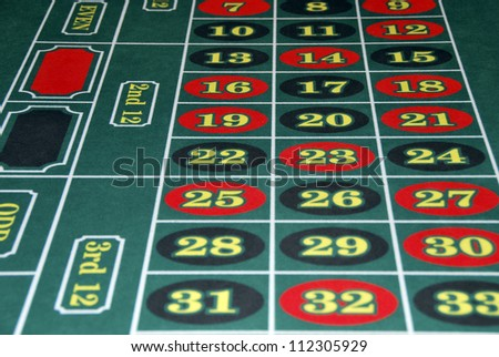 Roulette numbers in red and black. Bet and win - stock photo