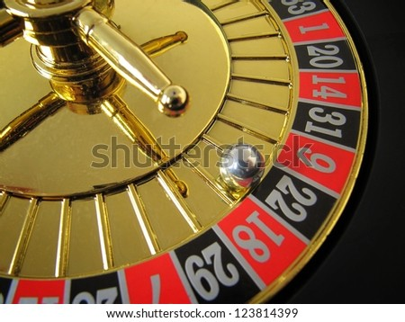 Roulette of fortune in casino gambling. - stock photo
