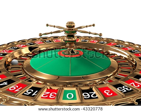 Roulette on white background. 3D - stock photo