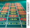 Roulette table close up - stock photo