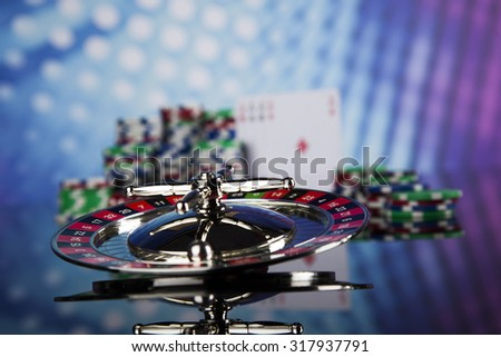 Roulette table in a casino - stock photo