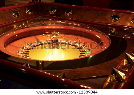 Roulette table. Shot from a session in a real casino. - stock photo