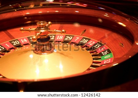 Roulette table. Shot from a session in a real casino.