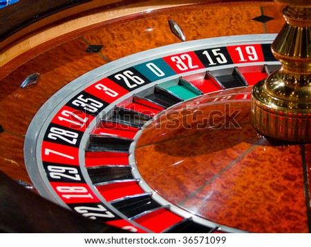 Roulette wheel (casino series) - stock photo
