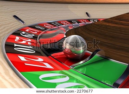 Roulette Wheel Close up - stock photo
