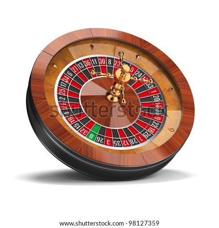 Roulette wheel. 3d image. Isolated white background. - stock photo