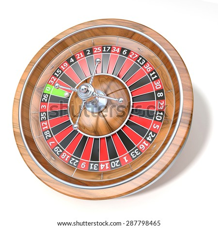 Roulette wheel. 3D render illustration isolated on white background