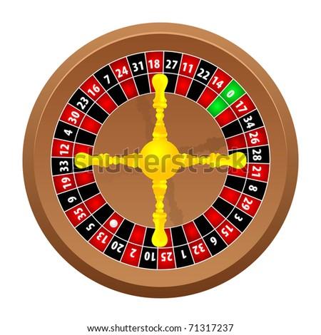 roulette wheel on white background, - stock photo