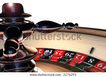 Roulette Wheel Spinner Close Up - stock photo