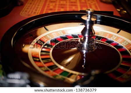 Roulette wheel stopped - stock photo