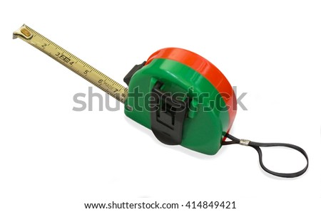 Roulette with red and green body housing on a white background - stock photo