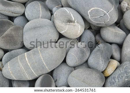 Round ,beach pebbles background - stock photo