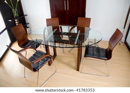 Round board table at a business office