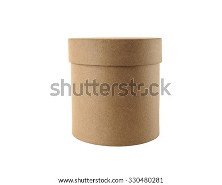 Round box on a white background