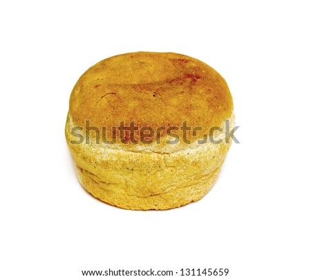 round bread isolated on white background