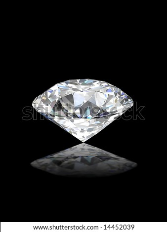 Round brilliant cut diamond perspective