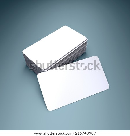Round business cards blank mockup - stock photo