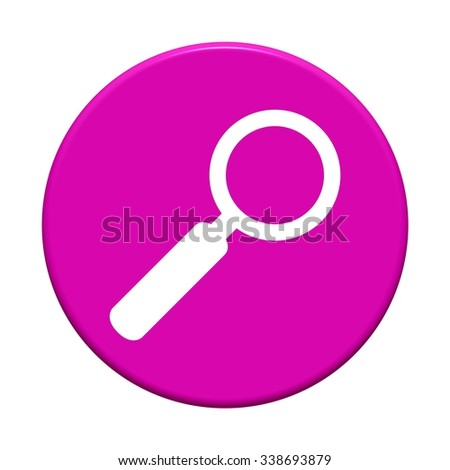 Round Button showing icon symbol of Search - stock photo