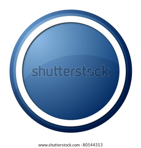 round button with white ring for web design and presentation - stock photo