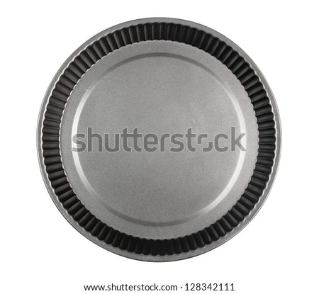 Round Cake Mould, Mold (Tart Tin). Isolated with clipping path. - stock photo
