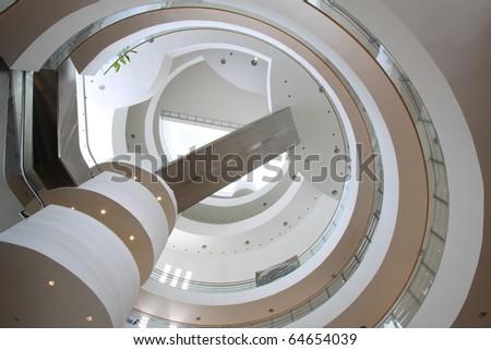 round ceiling - stock photo