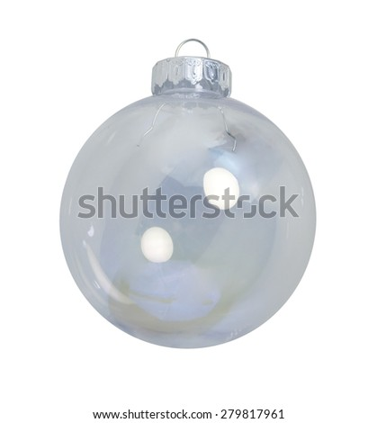 Round Christmas ornament for decorating during the winter season - path included