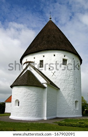 Round church on the Danish island Bornholm.
