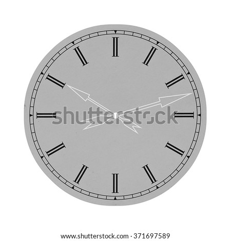 Round clock isolated on white