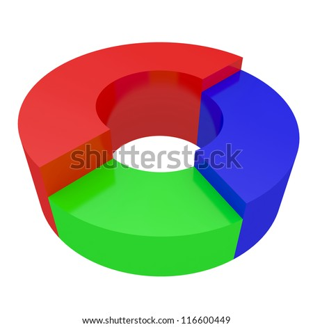 Round colored diagram on a white background - stock photo