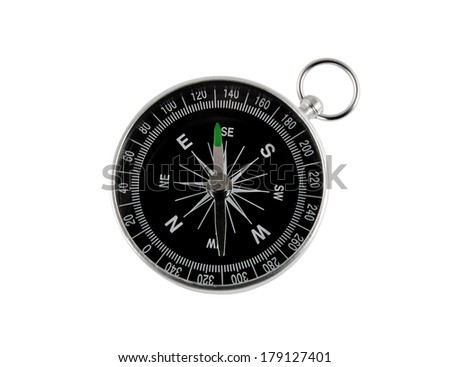 Round compass isolated on the white background