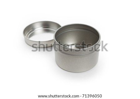 Round Container with white background