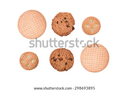 round cookies - stock photo