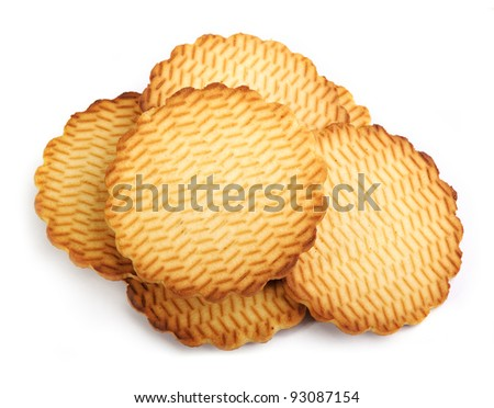 Round cookies isolated on white