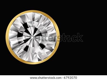 round diamond jewel - stock photo