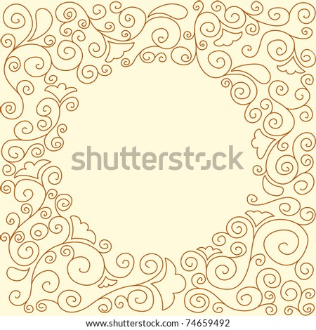 round doodle frame, for vector version see image no. 65692819 - stock photo