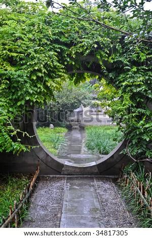 Round door - stock photo