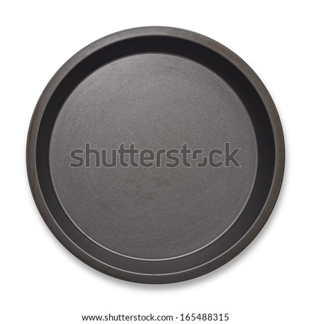 Round empty baking tin - stock photo