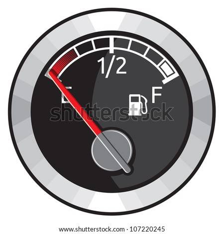 Round Empty Gas Tank Illustration
