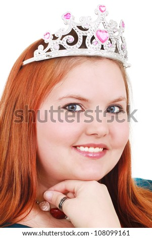Round-faced princess - stock photo