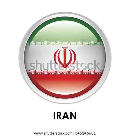 Round flag of Iran
