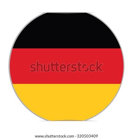 Round german flag raster icon isolated, german flag button. raster illustration flag of germany sticker - stock photo