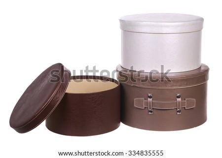 round gift boxes - stock photo