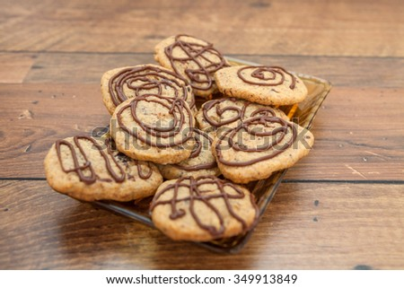 Round gingerbread cookie - stock photo