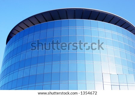 round glass building