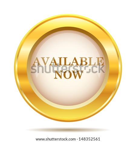 Round glossy icon with brown design on gold background - stock photo