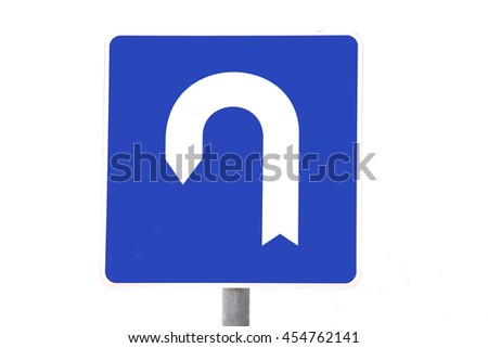 Round grungy road and traffic sign