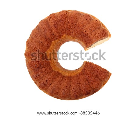 Round lemon chocolate cake - stock photo