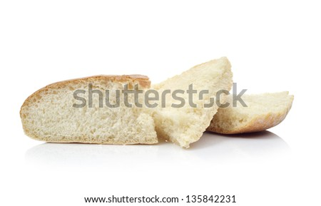 Round loaf of bread - stock photo
