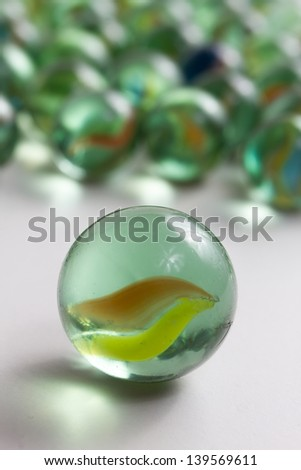 round marbles - stock photo